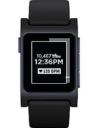 Pebble 2 + Heart Rate Smart Watch - Black/Black