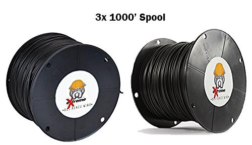16AWG / Gauge Professional Grade eXtreme Dog Fence Solid Core Dog Fence Wire (3000' - 3x 1000' Spool) by Extreme Dog Fence