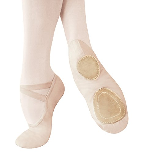 "Adult ""Performance Series"" Split-Sohle Canvas Ballettschuhe, SCP6 Europäisches Rosa"