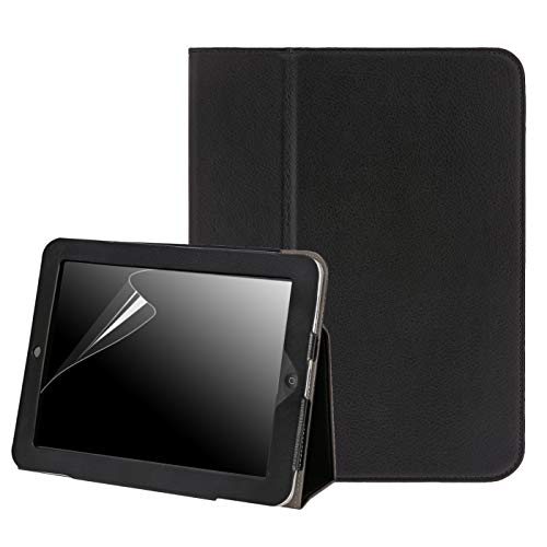 (HDE Case for Original iPad 1st Generation - Slim Fit Leather Cover Stand Folio with Magnetic Closure for Apple iPad 1 (Black))