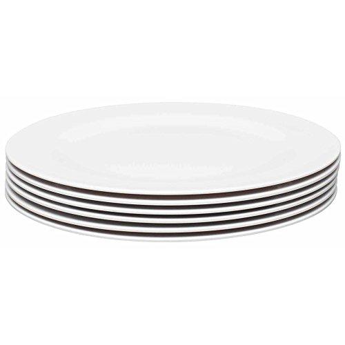 Zak Designs 1313-0319-ISET Ella Melamine Plates, Dinner Set, Eggshell White