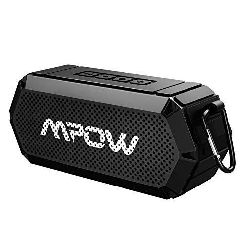 Mpow R3 Bluetooth Speaker, Portable Indoor Outdoor Wireless Speaker Bluetooth V4.2, HD Stereo&Bass, IPX6 Water-Resistant, Support AUX in, 15-Hour Playtime Party, Beach, Shower, Camping, Hiking (Black) by Mpow