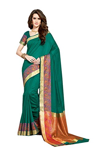 Dessa Collections Indian Sarees For Women Wedding Teal Green Designer Party Wear Traditional Sari by Dessa Collections