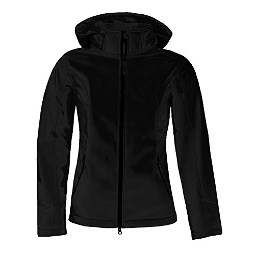 Free Country Ladies Cubic Dobby Wind and Water Resistant Active Softshell Jacket (Medium, Black) (Dobby Wind Jacket)