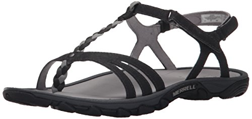 Merrell Women's Enoki Twist Sandal, Black, 11 M US by Merrell