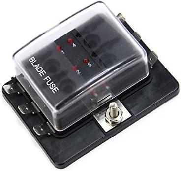 new 6 way led illuminated blade fuse box with cover 1967 Firebird Fuse Box