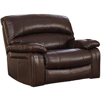 Ashley Furniture Signature Design - Damacio Power Recliner - Oversized - Dark Brown  sc 1 st  Amazon.com & Amazon.com: Ashley Furniture Signature Design - Damacio Power ... islam-shia.org