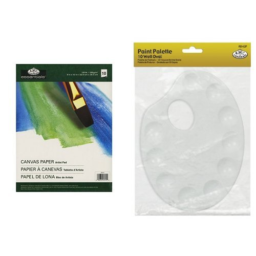 paint palette 10 well kidney shape Royal /& Langnickel oval