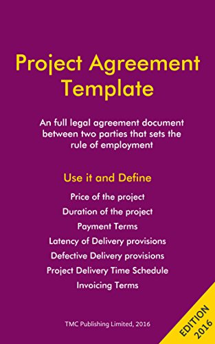 Project Agreement / Work Contract Template (Agreement Templates Contract)