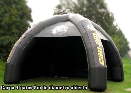 TUCUMAN AVENTURA - Carpa Hinchable 4 Patas Abierta-Cerrada ...