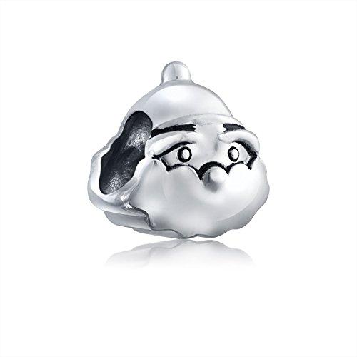 (Bling Jewelry Christmas Santa 925 Sterling Silver Holiday Charm Bead Oriana Troll Pugster Chamilia Pandora Compatible)