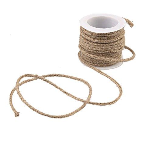 PsmGoods® Jute-Schnur-Schnur-Schnur Natur hessischen Burlap Twine Seil für rustikale Hochzeit Weihnachtsdekorationen Floristik DIY Dekor-Spielzeug-Handwerk