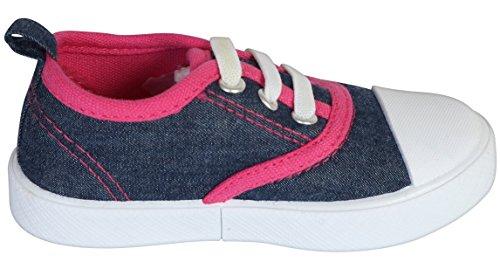 Gerber Baby Rubbersole Early Walker Slip On Sneakers (Infant/Toddler), Denim/Pink, 5 M US Toddler' by Gerber (Image #3)