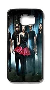 Samsung Galaxy S6 Edge Customized Unique Hard Black Case Evanescence Case S6 Edge Cover PC Case