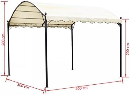 Toldo para jardín con diseño de pérgola al aire libre, toldo de ...