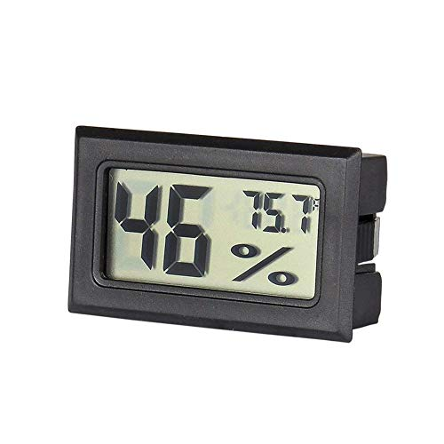 Dacyflower Mini Digital Hygrometer Thermometer Indoor Humidity Monitor with Temperature Humidity Gauge Meter for Cigar Humidor Package List:Digital Hygrometer 1 ()