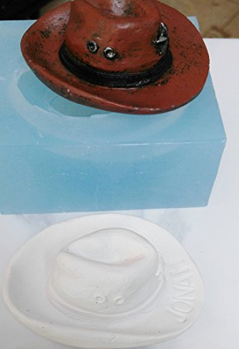 Mold for Personalized Western Hat, Cowboy Hat Silicone Soap, Candle, Fondant, Cake Decor Mold from Laurel Arts