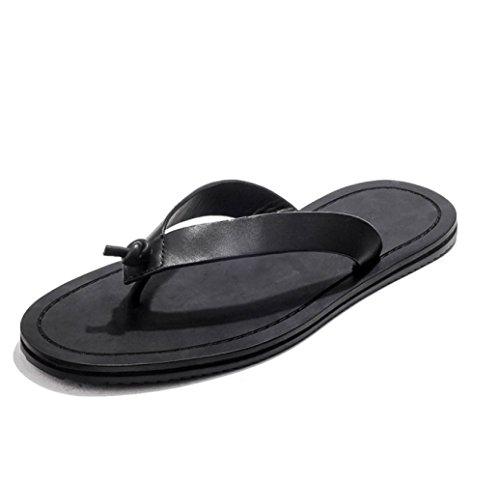 Sandali Pantofole Esterni Scarpe LEDLFIE da Indumenti Uomini Antiscivolo Black Punta Spiaggia Infradito 4YR0ERBS