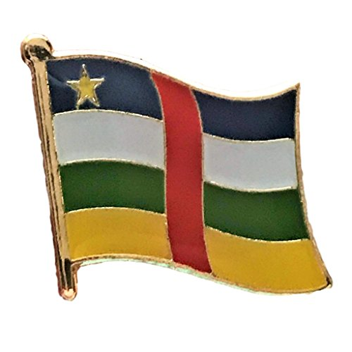 "Backwoods Barnaby Central African Republic Flag Pin/International Travel Enamel Pins w/clip (0.75"" x 0.75"") from Backwoods Barnaby"