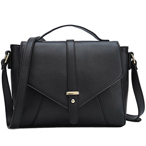 Ladies Designer Purses Cross Body Handbags Trendy Bags for Women Shoulder Bags (Black) Ladies Shoulder Purse