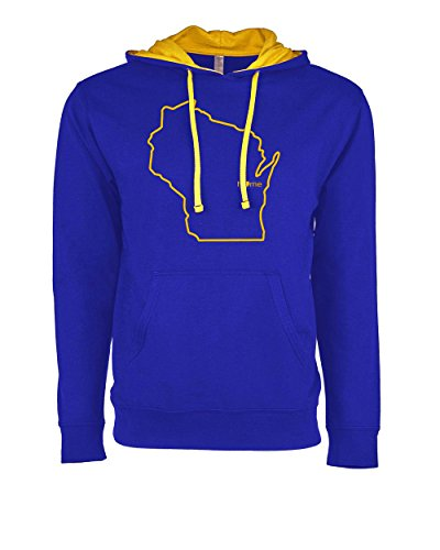 Mens Wisconsin Home Clothing (M, XL, Royal) - WI Brewers Hoodie by Hometown Hoodies (Milwaukee Rock Brewers)