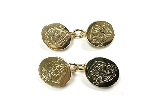 costumebase KINGSMAN CUFFLINKS Signet cuff links accessories props (Chain Link Cufflinks)