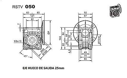 0,75KW 15 tr//min de sortie MOTOR/ÉDUCTEUR MONOPHAS/É 220V 1CV