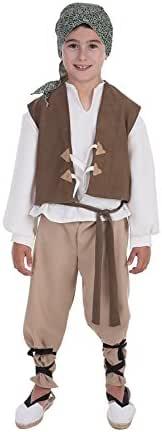 Disfraz de Campesino medieval para niño: Amazon.es: Juguetes y juegos