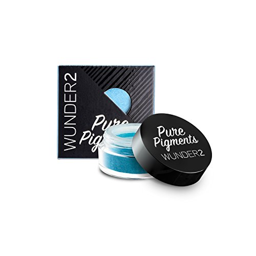 WUNDER2 Pure Pigments Ultra-Fine Loose Color Powders for Eye Makeup, Maldives Blue, 0.04 Ounce