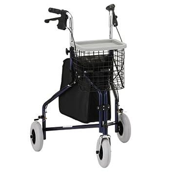 Amazon.com: 3 Walker Azul – sólida estabilidad, llantas de ...