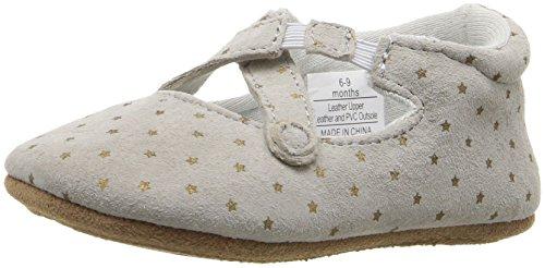 Image of Rosie Pope Kids Footwear Girls' Fun Ballet Flat, Grey, 3-6 Months W US Infant
