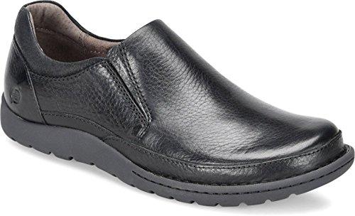 Born - Mens - Nigel Slip On Black (Born Suede Heels)