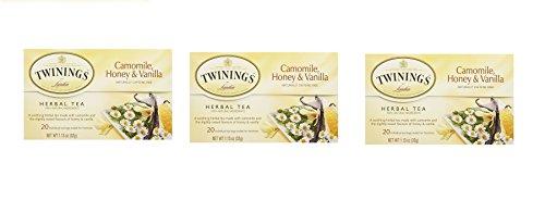 Twinings , Camomile Honey, Vanilla ,( 3 x20 tea bags), Pack of 3
