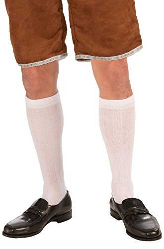 Forum Novelties Male Knee Socks, White