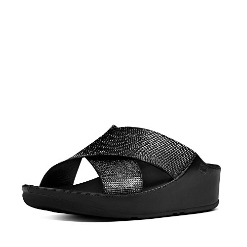 Sandalen Fitflop ™ Crystall Folie Vrouwen Zwart