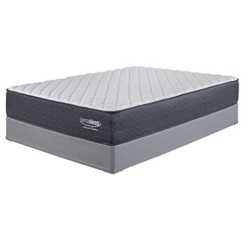 Ashley Single Bed - Ashley Furniture Signature Design - Sierra Sleep - Limited Edition Firm Mattress - Traditional Inner Spring King Size Mattress - White