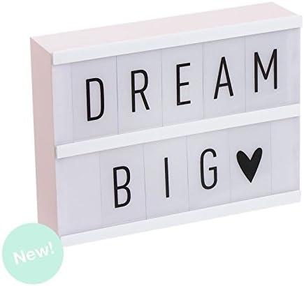 Dcasa - Lightbox Caja de luz A5 color rosa con 75 letras .: Amazon ...