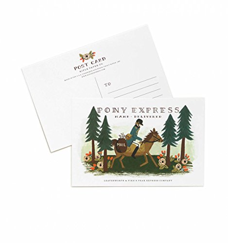 Pony Express Postcards By Rifle Paper Co. -- Set of 10 Cards