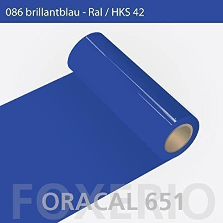 Orafol – Oracal 651 – 63 cm Rollo – 10 M (Metro) – Brillant Azul/Brillo, a310oracal – 651 – 10 M – 63 cm – 38 – KL – Auto Protector de Pantalla/Muebles Pantalla/Cocina Pantalla: Amazon.es: Hogar
