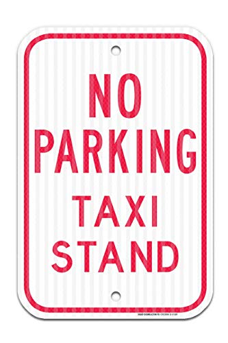 (No Parking Taxi Stand Red Sign Federal 12