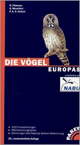 Die Vogel Europas Amazon De Peterson Roger Mountfort Guy Hollom P A Hoerschelmann Heinrich Hoerschelmann Heinrich Bucher