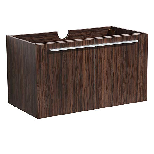 Fresca Vista Walnut Modern Bathroom Cabinet ()