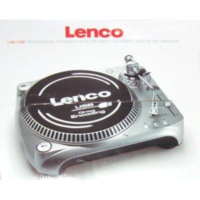 Lenco Turntable L-80 USB Gris - Tocadiscos (Gris, AC 230V, 9 ...