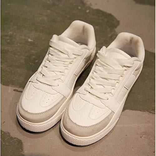 ZHZNVX Comfort poliuretano Bianco donna Tacco da Scarpe Estate chiusa Rosso PU piatto Sneakers Punta White Nero Primavera 0WqrF0SUxw