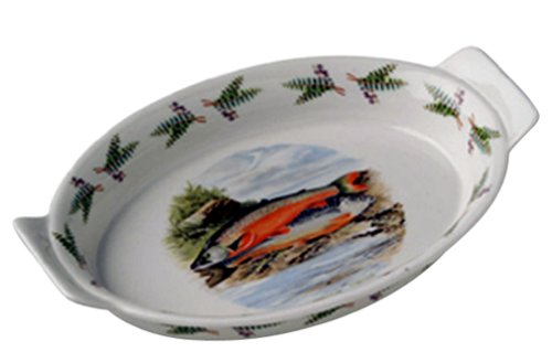 Portmeirion Compleat Angler Earthenware 10-Inch Oval Gratin Dish (Portmeirion Oval Gratin Dish)