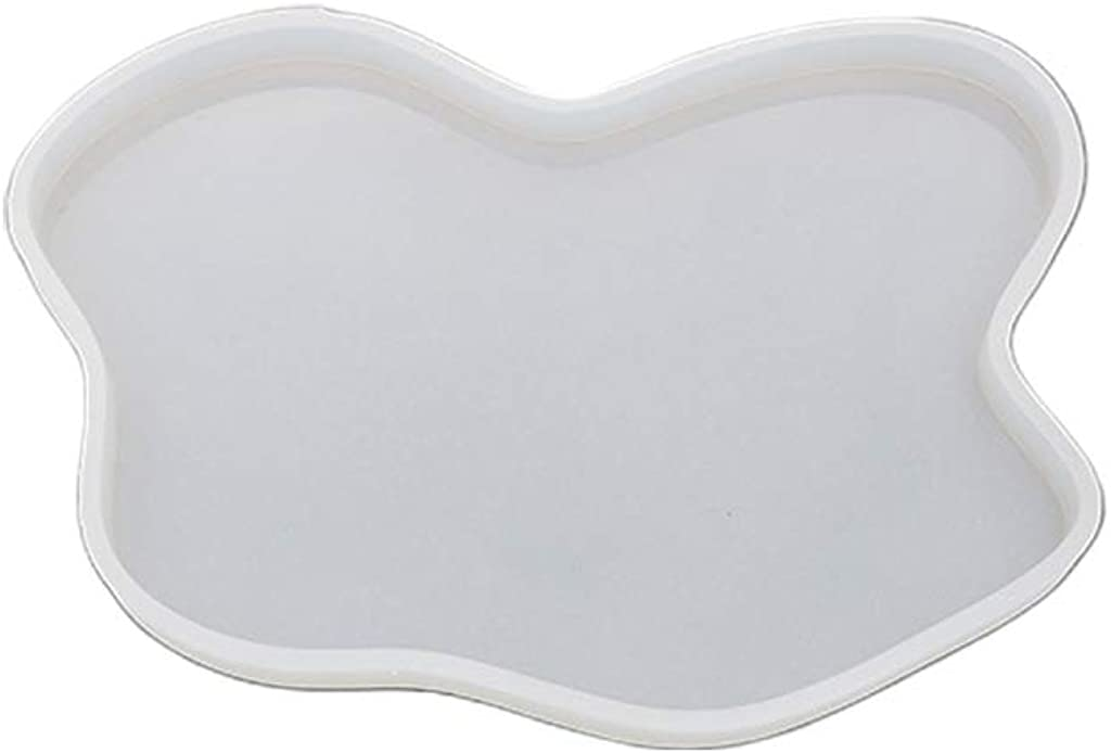 huyiko Irr/égulier Coaster Cup Mat Mould Manuel Miroir UV R/ésine Table D/écoration DIY Cristal /Époxy Moules