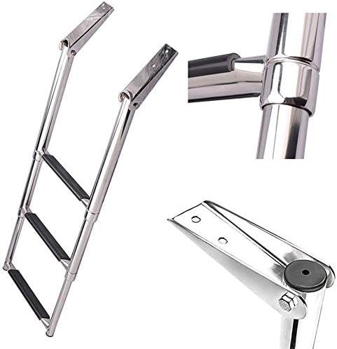 WYZXR Escalera de Barco telescópica de Acero Inoxidable de 3 peldaños - Escalera Plegable para Piscina/yate Marino, Capacidad de 550 LB: Amazon.es: Hogar