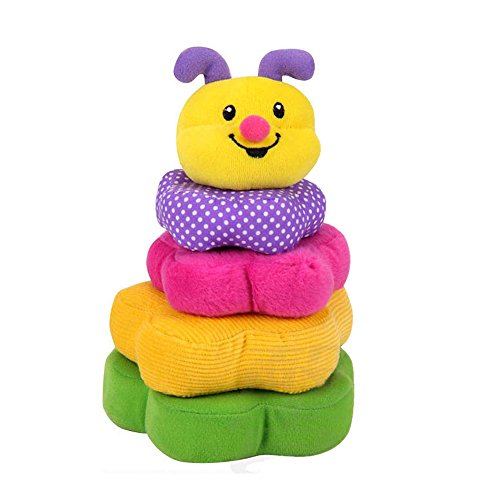[Explore Discover Soft Cloth Busy Building Block Toys Stack Blocks Rattle Educational Learning Toy] (Things That Start With The Letter Z)