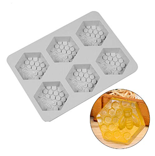 Creative 6 Holes 3D Honey Bee Soap Mold Silicone DIY Handmade Soap Cake Candy Craft Molds