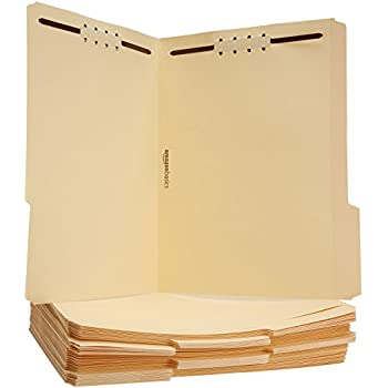 AmazonBasics Manila File Folders with Fasteners - Letter Size, 50-Pack